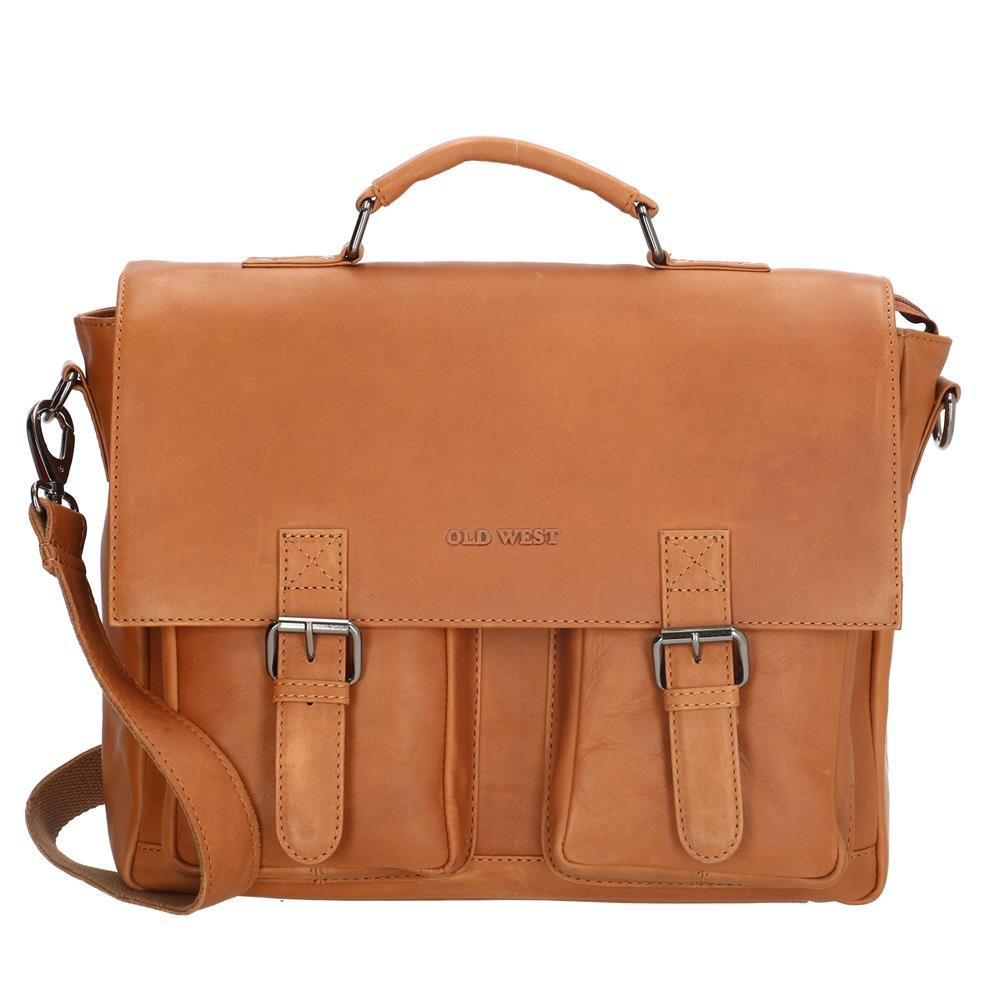 Leren Laptoptas/ business tas Old West (bruin)