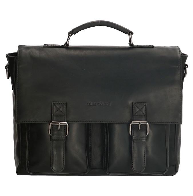 Leren Laptoptas/ business tas Old West